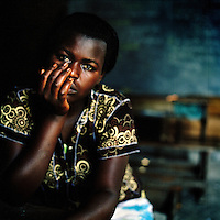 Rehemi,18  suffers from fistula and is waiting for an operation for the internal injuries she suffered when she was gang-raped by a group of seven rebels.  ©Robin Hammond/PANOS/Felix Features