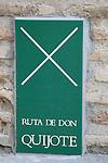 Don Quixote Tourist Route Sign, Toledo, Castilla - La Mancha