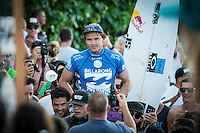 Pipeline, North Shore of Oahu, Hawaii Friday December 19 2014) Julian Wilson (AUS).- The final stop of the 2014  World Championship Tour, the Billabong Pipe Masters in Memory of Andy Irons, was  ccompleted today in NW double overhead surf. <br /> Gabriel Medina (BRA) became the first ever Brazilian World Champion after both rival contenders , Kelly Slater (USA) and Mick Fanning (AUS) were eliminated from the contest. Medina went onto finish 2nd overall behind Julian Wilson (AUS). <br /> In the overlapping heat format Wilson surf three consequent heats and still had enough entry to take out the 30 minute final.<br /> By winning the final Wilson also won the covered Vans Triple Crown of Surfing for best overall performance through the whole Triple Crown.<br /> <br /> The Billabong Pipe Masters in Memory of Andy Irons will determine this year&rsquo;s world surfing champion as well as those who qualify for the elite tour in 2015. As the third and final stop on the Vans Triple Crown of Surfing Series  the event will also determine the winner of the revered three-event leg.<br /> <br />  Photo: joliphotos.com