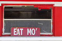 retro sign at a diner &quot;Eat Mo&quot;