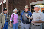 Hyden, Kent., Mayor Lonnie Hendrix greets his long time business friends from Indianapolis on Wednesday, October 9, 2013. Photo by Leah Klafczynski
