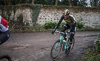 Maarten Wynants (BEL/LottoNL-Jumbo) on the Chemin de Wih&eacute;ries cobble section (Honelles)<br /> <br /> GP Le Samyn 2017 (1.1)