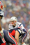 New England Patriots quarterback Tom Brady prepared to get the snap against the Buffalo Bills at Ralph Wilson Stadium in Orchard Park, NY, on December 11, 2005 . The Patriots defeated the Bills 35-7. Mandatory Photo Credit: Ed Wolfstein