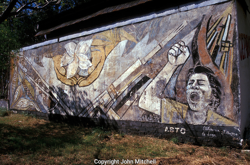 Stock photo of managua nicaragua john mitchell stock for Mural nicaraguense
