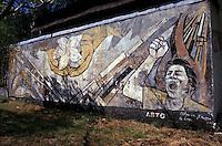 Sandinista revolution era mural in downtown Managua, Nicaragua