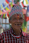 Asia, Nepal, Kathmandu. Smiling Nepali Man.