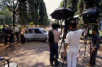 A shooting set of a Bollywood film in Mumbai