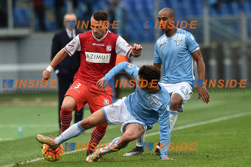 Danilo Cataldi Lazio, Gaetano Letizia Carpi.<br /> Roma 6-01-2016 Stadio Olimpico, Football Calcio 2015/2016 Serie A Lazio - Carpi. Foto Antonietta Baldassarre / Insidefoto