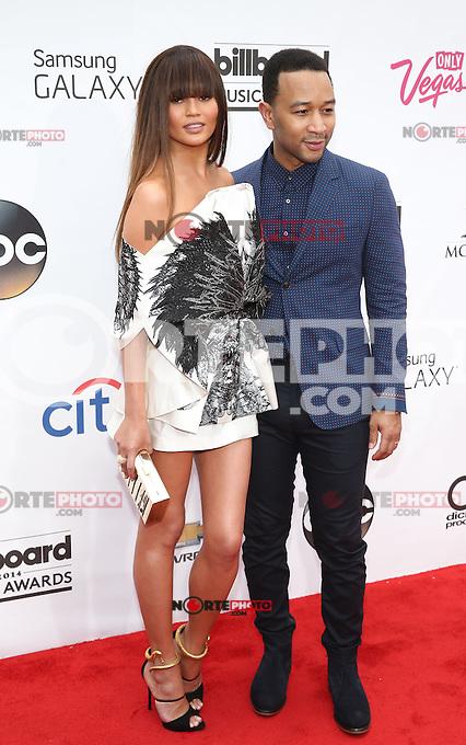 LAS VEGAS, NV - May 18 : Chrissy Teigan and John legend pictured at 2014 Billboard Music Awards at MGM Grand in Las Vegas, NV on May 18, 2014. ©EK/Starlitepics