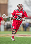 18 April 2015: University of Hartford Hawk Midfielder Alec Brown, a Sophomore from Wakefield, MA, in action against the University of Vermont Catamounts at Virtue Field in Burlington, Vermont. The Cats defeated the Hawks 14-11 in the final home game of the 2015 season. Mandatory Credit: Ed Wolfstein Photo *** RAW (NEF) Image File Available ***