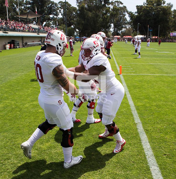 Stanford, CA - April15, 2017:  Cardinal and White Spring Game at Cagan Stadium.