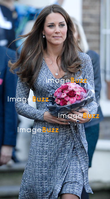 CATHERINE, DUCHESS OF CAMBRIDGE PREGNANT.makes her first public appearance of the New Year when she visited Hope House, Clapham, London_19/02/2013