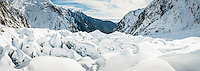 Crevasses on Franz Josef Glacier, Westland Tai Poutini National Park, West Coast, World Heritage Area, New Zealand