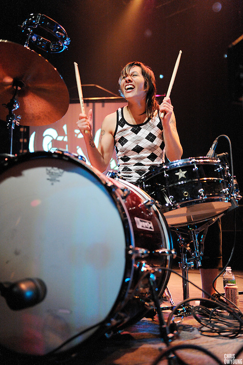 Matt & Kim perform at Terminal 5 in New York City on March 21, 2009.