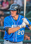 21 July 2016: Hudson Valley Renegades outfielder Ryan Boldt stands on deck ready to lead off a game against the Vermont Lake Monsters at Centennial Field in Burlington, Vermont. The Lake Monsters edged out the Renegades 4-3 in NY Penn League play. Mandatory Credit: Ed Wolfstein Photo *** RAW (NEF) Image File Available ***