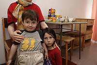 Chechen woman with here two children, daughter 5 year old, son 2 year old, in the URiC Moszna Center..The husband refuse to be in the picture, is afraid for is life and is family left in Chechnya..-For security reason, the face of the adult asylum seeker have been evicted of the photography..-For security reason, the names of the adult asylum seeker have been change. .-Article 9 of the Act of 13 June 2003 on grating protection on the Polish territory (Journal of Laws, No 128, it. 1176) personal data of refugees are an object of particular protection..-Cases where publication of a picture or name of asylum seeker had dramatic consequences for this persons and is family back in Chechnya. .Please have safety of those people in mind. Thank you.