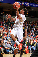 CHARLOTTESVILLE, VA- DECEMBER 6: Jontel Evans #1 of the Virginia Cavaliers shoots in front of Vertrail Vaughns #11 of the George Mason Patriots during the game on December 6, 2011 at the John Paul Jones Arena in Charlottesville, Virginia. Virginia defeated George Mason 68-48. (Photo by Andrew Shurtleff/Getty Images) *** Local Caption *** Vertrail Vaughns;Jontel Evans