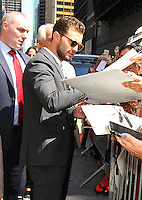 NEW YORK, NY-August 04: Jamie Dornan at The Late Show with Stephen Colbert to talk about his new movie Anthropoid in New York. NY August 04, 2016. Credit:RW/MediaPunch
