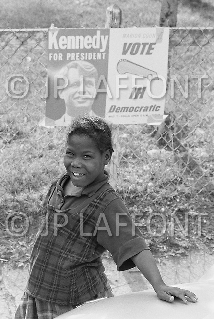 May 7th 1968, Indianapolis, Indiana, <br /> A young Robert F. Kennedy supporter.