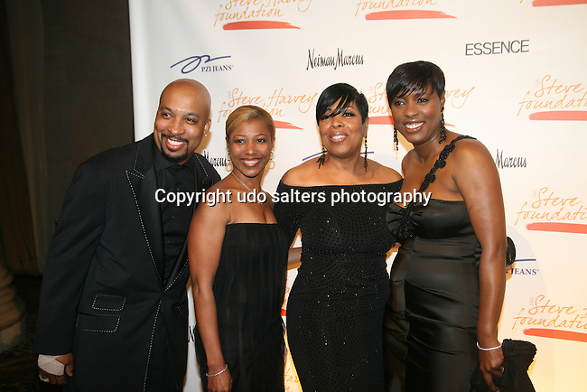 Members of the Steve Harvey Morning Show - Nephew Tommy, Jacqueline Miles, Shirley Strawberry and  Carla Ferrell attend the 1ST Annual Steve Harvey Foundation Gala honoring Academy Award Winner Denzel Washington, Harlem Children's Zone President & CEO Geoffrey Canada and State Farm Marketing Vice President Pam El , Cipriani Wall Street
