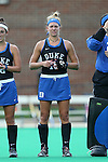 30 September 2016: Duke's Morgan Bitting. The Duke University Blue Devils hosted the Boston College Eagles at Jack Katz Stadium in Durham, North Carolina in a 2016 NCAA Division I Field Hockey match. Duke won the game 6-2.