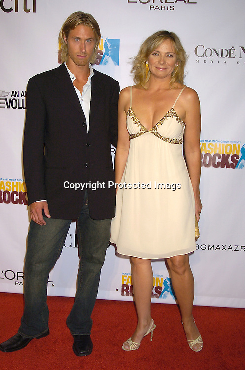 Kim Cattrall and friend..at the Conde Nast Media Group Fashion Rocks second annual live concert on September 8, 2005 at Radio City Music Hall. ..Photo by Robin Platzer, Twin Images