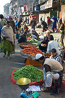 Old Delhi, Daryagang fruit and vegetable market on sale, India