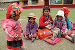 South America, Peru, Willoq. Peruvian Kids of Willoq
