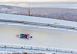 9 January 2016: Alexander Mutovin, competing for Russia, slides through Curve 14 on his second run of the day during the BMW IBSF World Cup Skeleton Championships at the Olympic Sports Track in Lake Placid, New York, USA. Mutovin ended the day with a combined 2-run time of 1:51.01 and a 14th place overall finish. Mandatory Credit: Ed Wolfstein Photo *** RAW (NEF) Image File Available ***