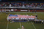 The National Anthem is played before Oxford High vs. Lafayette High at Bobby Holcomb Field in Oxford, Miss. on Thursday, August 30, 2012. Oxford High won 19-0.