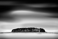 Long exposure of Long Island near Five Islands Provincial Park in Nova Scotia.