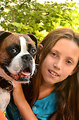 Stock photo of Girl and Dog