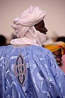 In-Gall, near Agadez, Niger - Tuareg Man, Veil, Embroidered Boubou.