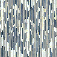 Weft, a hand-cut jewel glass mosaic, shown in Quartz and Pearl, is part of the Ikat Collection by Sara Baldwin New Ravenna Mosaics.<br />