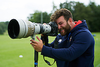 Nathan Catt of Bath Rugby tries his hand at photography. Bath Rugby pre-season training session on August 9, 2016 at Farleigh House in Bath, England. Photo by: Patrick Khachfe / Onside Images