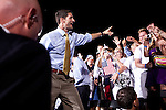 Republican vice presidential candidate Rep. Paul Ryan leaves a campaign rally in Fort Myers, Florida, October 18, 2012.