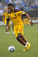 Robbie Findley...Kansas City Wizards and Real Salt Lake played to a 1-1 tie at Community America Ballpark, Kansas City, Kansas.
