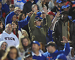 Louisiana Tech fans cheer at Ole Miss vs. Louisiana Tech in Oxford, Miss. on Saturday, November 12, 2011.