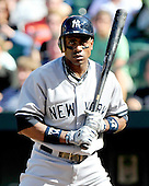 New York Yankees centerfielder Curtis Gunderson bats in the ninth inning against the Baltimore Orioles at Oriole Park at Camden Yards in Baltimore, Maryland in the first game of a doubleheader on Sunday, August 28, 2011.  Gunderson struck-out swinging.  The Orioles won the game 2 - 0..Credit: Ron Sachs / CNP.(RESTRICTION: NO New York or New Jersey Newspapers or newspapers within a 75 mile radius of New York City)