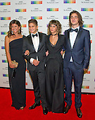 The family of &quot;Eagles&quot; member Glenn Frey, who passed away earlier this year, arrive for the formal Artist's Dinner honoring the recipients of the 39th Annual Kennedy Center Honors hosted by United States Secretary of State John F. Kerry at the U.S. Department of State in Washington, D.C. on Saturday, December 3, 2016. The 2016 honorees are: Argentine pianist Martha Argerich; rock band the Eagles; screen and stage actor Al Pacino; gospel and blues singer Mavis Staples; and musician James Taylor.  From left to right: wife Cindy Fry; son Otis Frey; daughter Taylor Frey, and son Deacon Frey.<br /> Credit: Ron Sachs / Pool via CNP