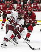 Alexander Kerfoot (Harvard - 14), Matt Purmal (SLU - 15) - The Harvard University Crimson defeated the St. Lawrence University Saints 6-3 (EN) to clinch the ECAC playoffs first seed and a share in the regular season championship on senior night, Saturday, February 25, 2017, at Bright-Landry Hockey Center in Boston, Massachusetts.