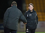 St Johnstone v Partick Thistle....17.01.15  SPFL<br /> Alan Archibald shakes hands with Tommy Wright at full time<br /> Picture by Graeme Hart.<br /> Copyright Perthshire Picture Agency<br /> Tel: 01738 623350  Mobile: 07990 594431