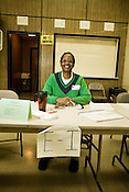 Shelia Alexander, poll worker at VFW Post 2740 in North Durham, NC, Tues., Nov. 4, 2008.