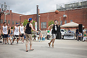 HOOPscotch, a semi-serious game of basketball, with some players in sandals, for a seriously good cause, Activate Good, Raleigh, N.C., Friday, September 7, 2012