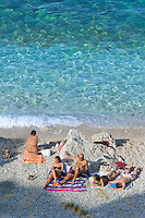 San Vito lo Capo, Sicily, Italy, May 2007. Tiny pristine pebble beaches are the rewards during a walk in Zingaro Nature Park. The rugged nature of sicily harbours beautiful villages and ruins of ancient civilizations. Photo by Frits Meyst/Adventure4ever.com