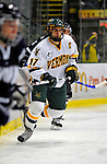 1 February 2008: University of Vermont Catamounts' defenceman and Team Captain Mark Lutz, a Senior from Stevens Point, WI, in action against the University of New Hampshire Wildcats at Gutterson Fieldhouse in Burlington, Vermont. The seventh-ranked Wildcats defeated the Catamounts 5-1in front of a sellout crowd of 4,003...Mandatory Photo Credit: Ed Wolfstein Photo