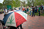 About 100 grassroots activists called Overgrow The Government, joined together for a protest march in Washington D.C. to demand an end to cannabis prohibition. The group marched from the Washington Monument to Lafayette Park behind the White House.