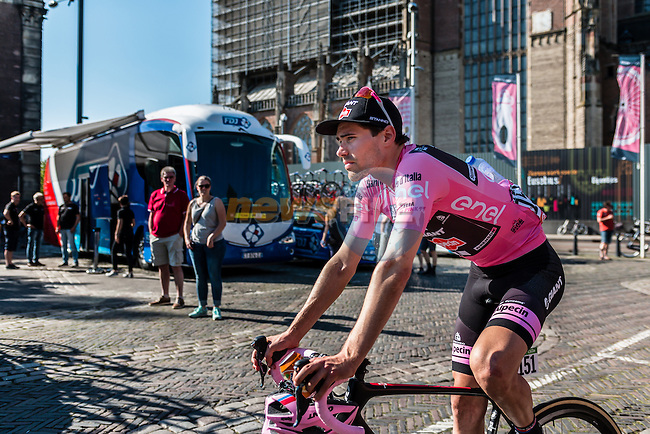 DUMOULIN Tom from the Netherlands of Team Giant - Alpecin (GER) losing his pink jersey, after the finish at the team buses in Arnhem, stage 3 from Nijmegen to Arnhem running 190 km of the 99th Giro d'Italia (UCI WorldTour), The Netherlands, 8 May 2016. Photo by Pim Nijland / PelotonPhotos.com | All photos usage must carry mandatory copyright credit (Peloton Photos | Pim Nijland)