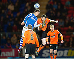 St Johnstone v Dundee United.....01.04.13      SPL.Murray Davidson and Jon Daly.Picture by Graeme Hart..Copyright Perthshire Picture Agency.Tel: 01738 623350  Mobile: 07990 594431
