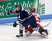 Kyle Ventura (Toronto - 14), Matt Ronan (BU - 20) - The Boston University Terriers defeated the visiting University of Toronto Varsity Blues 9-3 on Saturday, October 2, 2010, at Agganis Arena in Boston, MA.